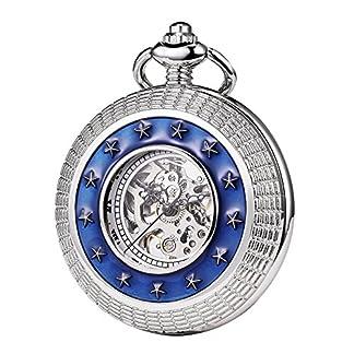 TREEWETO-taschenuhr-mit-kette-herren-silber-blau-retro-rmische-ziffern-taschenuhren-mechanisch-pocket-watch