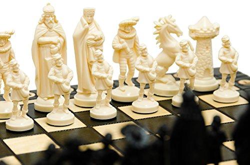 Mittelalterliche-Schachfigur-aus-Holz-und-Holz-40x40cm-Kunststoffteile