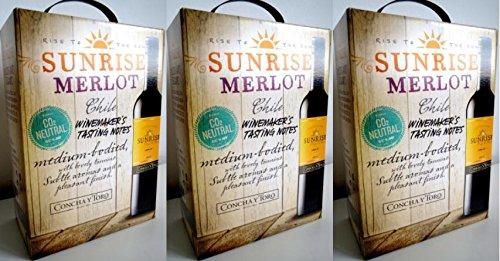 3-x-SUNRISE-MERLOT-CONCHA-Y-TORO-3-LITER-BAG-IN-BOX-Incl-Goodie-von-Flensburger-Handel