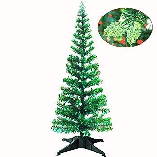 YuQi-Knstliche-Bume-152-cm-zusammenklappbar-mit-Stnder-Abstand-50-wiederverwendbar-fr-Weihnachten-Partys-nchstes-Neujahr-Hochzeit-Saisonale-Dekoration-und-Party-grne-Bltter