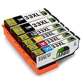 JARBO-Kompatibel-Ersatz-fr-Epson-33XL-Tintenpatronen-kompatibel-mit-Epson-Expression-Premium-XP-530-XP-540-XP-630-XP-635-XP-640-XP-645-XP-830-XP-900-2-Schwarz1-Foto-Schwarz1-Cyan1-Magenta1-Gelb