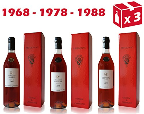 Armagnac-Chteau-De-Cassaigne-1968-1978-1988-70cl