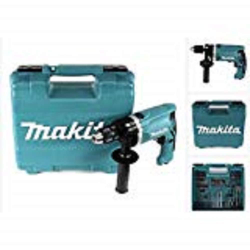 Makita-Schlagbohrmaschine-im-Koffer-710-W-inklusiv-74-teilig-Zubehr-HP1631KX3