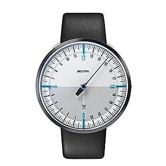 BOTTA-Design-UNO-24-Plus-Blau-Herren-24H-Einzeigeruhr-Analog-Schweizer-Quarzwerk-mit-Lederarmband-720000