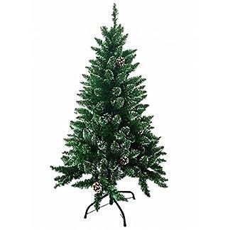 MCTECH-Knstlicher-Weihnachtsbaum-Andere-Gre-Farbe-Grne-Tannennadeln-mit-Schnee-Effekt-und-Echinacea