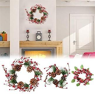 Ablerfly-Knstlicher-Beerenkranz-knstliche-Blumengirlande-Dekor-Tannenzapfen-Rattan-fr-Weihnachten-Thanksgiving-Tr-hngen-Glocke-Anhnger-high-Grade