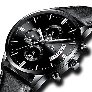 Herren-Uhren-Mnner-Wasserdicht-Sport-Militr-Chronograph-Lederband-Armbanduhr-Luxus-Mode-Datum-Kalender-Analog-Quarz-Schwarz-Uhr