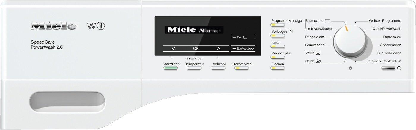 Miele-WKF-311-WPS-SpeedCare-mit-8-kg-SchontrommelWeiQuickPowerWash-fr-perfekt-saubere-Wsche-in-unter-1-Stunde18-Waschprogramme