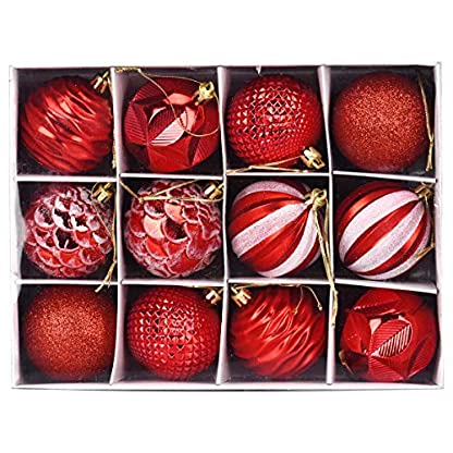 Plastik Christbaumkugeln.Adoraland Weihnachtskugeln Christbaumkugeln 12 Kugeln Set Plastik Christbaumschmuck Unzerbrechlich Fuer Weihnachtsbaum 6cm