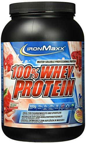 IronMaxx 100% Whey Protein / Wasserlösliches Eiweißpulver / Whey Proteinpulver mit Melonen Geschmack / 1 x 900 g Dose
