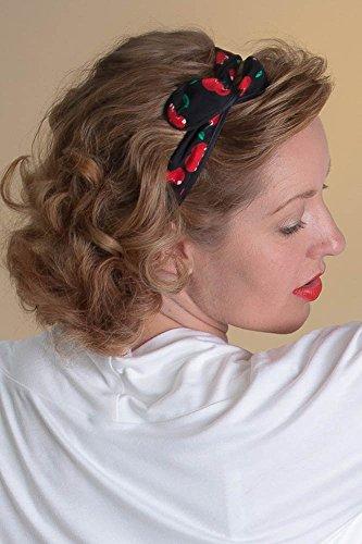 Haarband biegsam Haarschmuck Kopfband Pinup 50er Rockabilly Vintage Kirschen