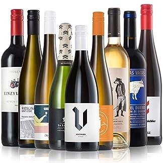 GEILE-WEINE-Weinpaket-WEIHNACHTEN-Gross-9-x-075-Bester-Wein-fr-Heiligabend-Rotwein-Weiwein-und-Prickelndes-von-Winzern-aus-Deutschland-Frankreich-und-Spanien