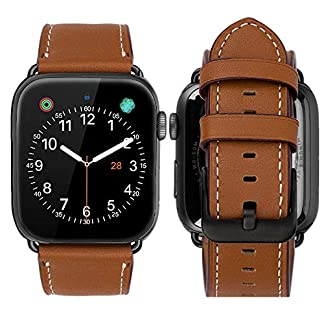 iBazal-Apple-Watch-Armband-38mm-40mm-42mm-44mm-Uhrenarmband-Leder-kompatibel-Series-4-Series-3-Series-2-Series-1-Mehrere-Farben
