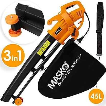 MASKO-Elektro-Laubsauger-3-in-1-3000W-Schultergurt-und-Rollen-Fangsack-45L-Laubblser-Gartensauger-Gartenblser