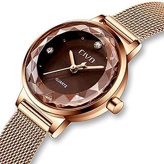 Damen-Uhren-Damen-Luxus-Wasserdichte-Edelstahl-Mesh-Mode-Analog-Quarz-Uhr-Rosegold-Business-Kleid-Lssige-Elegante-Armbanduhren-fr-Frauen-Damen-Mdchen