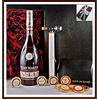 Geschenk-Cognac-Remy-Martin-VSOP-Mature-Cask-Finish-Flaschenportionierer-9-DreiMeister-Edel-Schokoladen-im-Geschenk-Karton-kostenloser-Versand