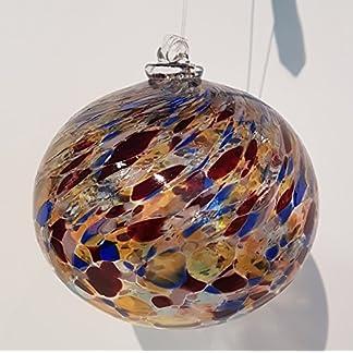 Kugel-zum-hngen-bunte-Glaskugel-Ornament-zum-hngen-bunt-gelstert-mundgeblasenes-Kristallglas-Fensterdekoration-Durchmesser-ca-9-cm-Oberstdorfer-Glashtte