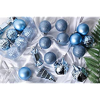 FeiliandaJJ-28PCS-6CM-Weihnachtskugel-Boxed-Matt-Glnzend-Glocke-Sigkeiten-Kugel-Weihnachten-Deko-Anhnger-Christbaumkugeln-fr-Weihnachtsbaum-Party-Home