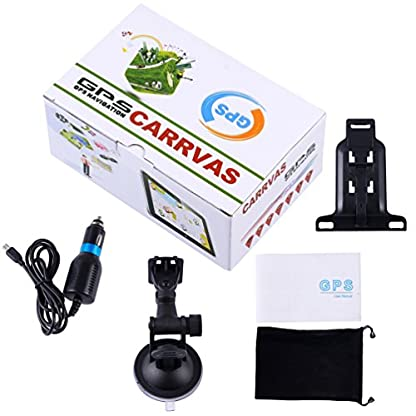 CARRVAS-7-Zoll-Sat-NAV-Europe-Traffic-GPS-Navi-Navigationsgert-fr-KFZ-LKW-Taxi-Europische-Karten-installiert-8GB-1600mAhT736