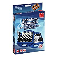 Jumbo-12763-Travel-Chess-und-Checkers-Kompaktspiel