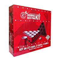 Original-Beer-Pong-Kit-Premium-Quality-Official-22-Groe-Amerikanische-Tumblers-2-Dreiecke-mit-Spielfeldern-4-Beer-Pong-Balls-Offizielle-Beer-Pong-Regeln-Abendspiel-Trinkspiel