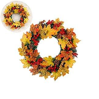 HELEVIA-Herbst-Deko-ThanksgivingWeihnachten-Girlanden-Dekoration-Herbst-Ahornblatt-Berry-knstliche-Girlande-Haustr-Kranz-Weihnachten-Home-Decor-fr-Halloween-Thanksgiving-Weihnachten