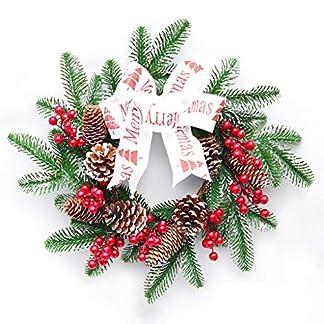 ZXPAG-Weihnachtliche-Krnze-Girlanden-Weihnachtsdeko-Kranz-Weihnachten-Kranz-Deko-fr-Tr-und-Fenster-auen-Deko-Wandkranz-Kranz-Girlande
