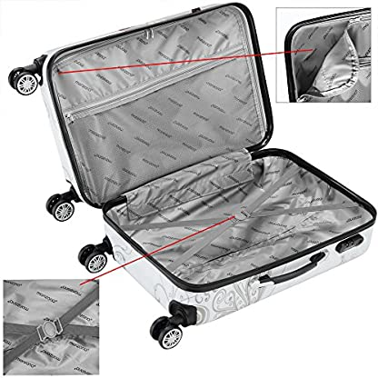 Reisekoffer-Hartschalenkoffer-Butterfly-Hartschale-Trolley-Koffer-ABS-Kunststoff-PC-beschichtet-Alu-Teleskopgriff-gummierte-Zwillingsrollen-Grenwahl