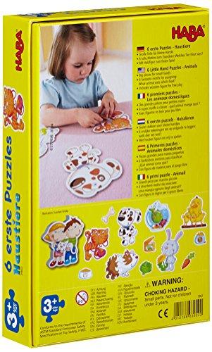 Haba-3902-6-Erste-Puzzles-Haustiere-Puzzle-mit-6-niedlichen-Tiermotiven-fr-Kinder-ab-2-Jahren-Mit-Holzfigur-zum-freien-Spiel