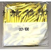 Gelbe-Sicherheitslose-gelb-Gewinnlose-100-Stck-von-1-100