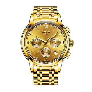 LIGE-Edelstahl-Herren-Uhren-Quarzuhr-Luminous-Sport-Mann-Armbanduhr-Mnnlich-Chronograph