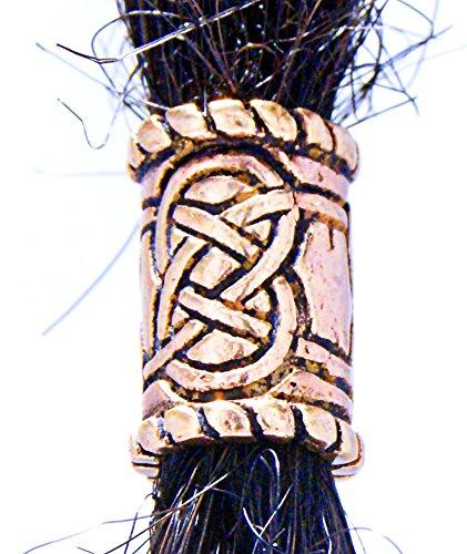 Kelten Knoten Bartperle Lockenperle aus Bronze, 6 mm Innendurchmesser