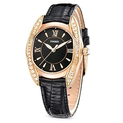 Time100-Armbanduhr-Damenuhr-Quarzuhr-Mdchenuhr-Edelstahl-Rosegold-W80106L01A