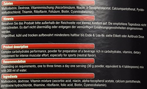 BWG Kohlenhydrat + Complex Performance (Maltodextrin, Dextrose & Vitaminmischung), Muscle Line, 2500 g, 1er Pack (1 x 2.5 kg)