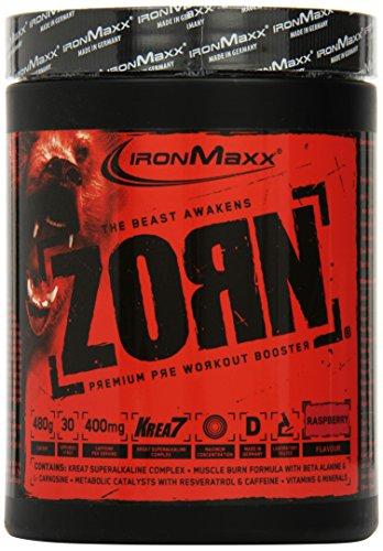 Ironmaxx Zorn Powder Himbeere, 1er Pack (1 x 0.48 kg)