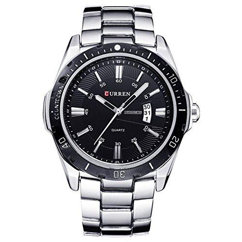 geschmackvoll-schwarzes-Zifferblatt-und-Gehuse-Herren-Uhr-mit-Metallband-wasserdicht-und-Datumanzeige-Uhr-fr-Mnner