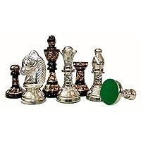 Stonkraft-Sammlerstck-Messing-Schachbrett-mit-100-Messingfiguren-Schachfiguren-Mnzen