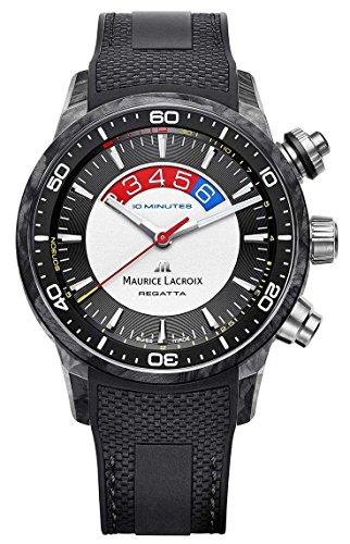 Maurice-Lacroix-Pontos-S-Regatta-Automatik-Uhr-Kohlenstoff-ML-162-Chronograph