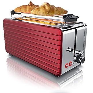 Arendo-Toaster-Langschlitz-4-Scheiben-Defrost-Funktion-wrmeisolierendes-Gehuse-Abnehmbarer-Brtchenaufsatz-1500W-herausziehbare-Krmelschublade-Modell-2020