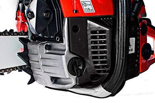 KUDA-CN-52-Benzin-Kettensge-2-Takt-1-Kette-extra-Rot-50-cm-langes-Schwert-3-CV-52-cc