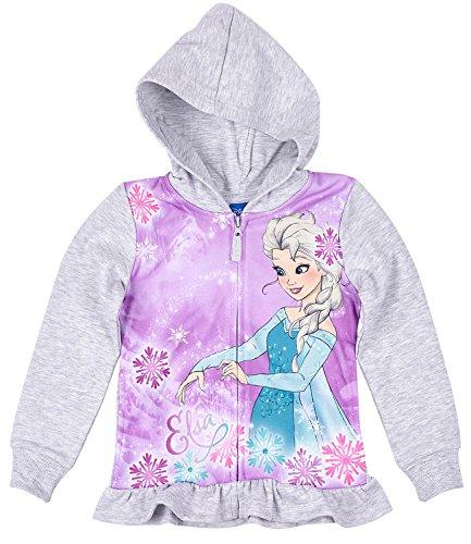 Disney Die Eiskönigin Elsa & Anna Mädchen Sweatjacke mit Kapuze