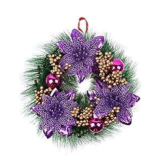 Prevently-30-cm-Frohe-Weihnachten-Kranz-Luxus-Christbaumkugeln-Weihnachtsdeko-Trkranz-Deko-Kranz-Weihnachten