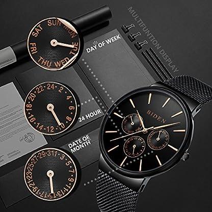 Herren-Armbanduhr-Klassisch-Minimalistische-Ultradnne-Schwarzes-Quarzuhr-mit-Datumsanzeige-multifunktional-Milanese-Armband