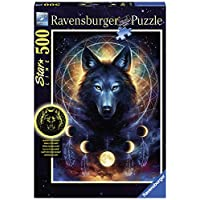Ravensburger-Erwachsenenpuzzle-13970-Ravensburger-13970-Leuchtender-Wolf-Erwachsenenpuzzle