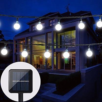 BAOANT-Solar-Lichterkette-Garten-Globe-Auen-mit-LED-Kugel-6m-30er-LED-2-Modi-Kaltwei-Auenlichterkette-Wasserdicht-Beleuchtung-fr-Weihnachten