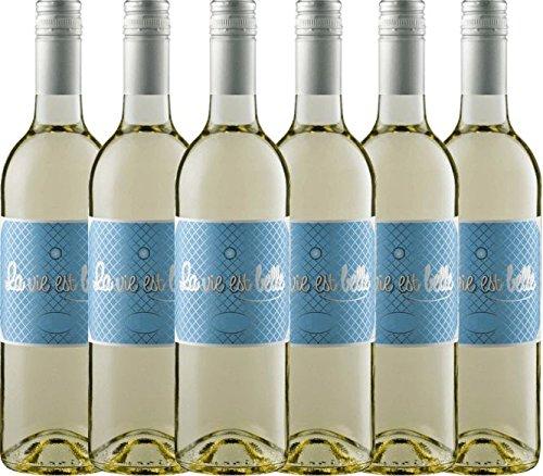6er-Paket-La-vie-est-belle-blanc-2017-La-vie-est-belle-lieblicher-Weiwein-franzsischer-Sommerwein-aus-dem-Languedoc-6-x-075-Liter