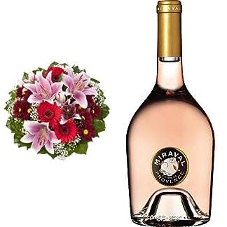Blumenstrau-Charlotte-mit-rosa-Lilien-Jolie-Pitt-Perrin-Miraval-Ros-Cotes-de-Provence-AOC-1-x-075-l