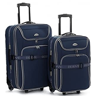 Trolley-Koffer-SET-XXL-Volumen-2-Trolleys-76-56-cm-Dehnfalte-Dunkelblau