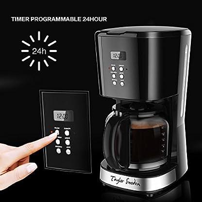 Taylor Swoden Macaron – Filterkaffeemaschine 1.8L 900 Watt mit ...