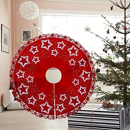 BESTOYARD-Filz-Weihnachtsbaum-Rock-Weihnachtsbaumdecke-Baumdecke-Christbaumstnder-Decke-Weihnachtsschmuck-Weihnachtsdeko-100-cmStern